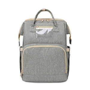 LinePeek Bag grey / China Best Parents Diaper Backpack