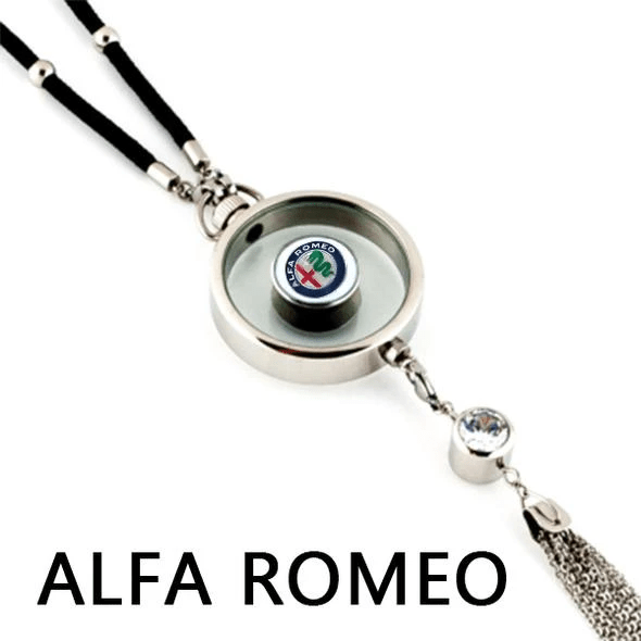 LinePeek Gadgets Alfa Romeo (2 Left) Car Perfume Totem with Logo