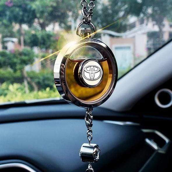 LinePeek Gadgets Toyota (3 Left) Car Perfume Totem with Logo