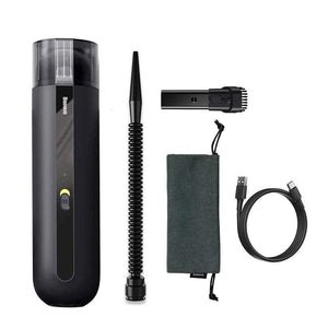 LinePeek Gadgets Upgraded Black HANDHELD AUTO VACUUM CLEANER