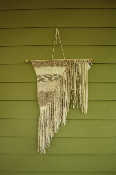 Asymmetrical Knitted Hanging