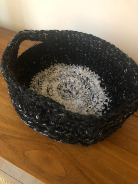 "Storage Textile Basket (small) 12"" dia x 5"" tall"