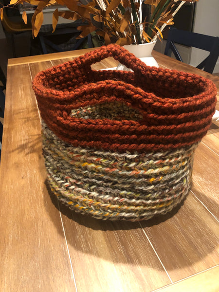 "Storage Textile Basket (Medium) 12"" dia x 10"" tall"