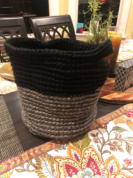 "Storage Textile Basket (Large) 12"" dia x 11"" tall"
