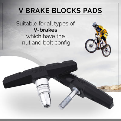 V-Brake Replacement Brake Pads Set ( Premium Rubber Blocks Shoes )