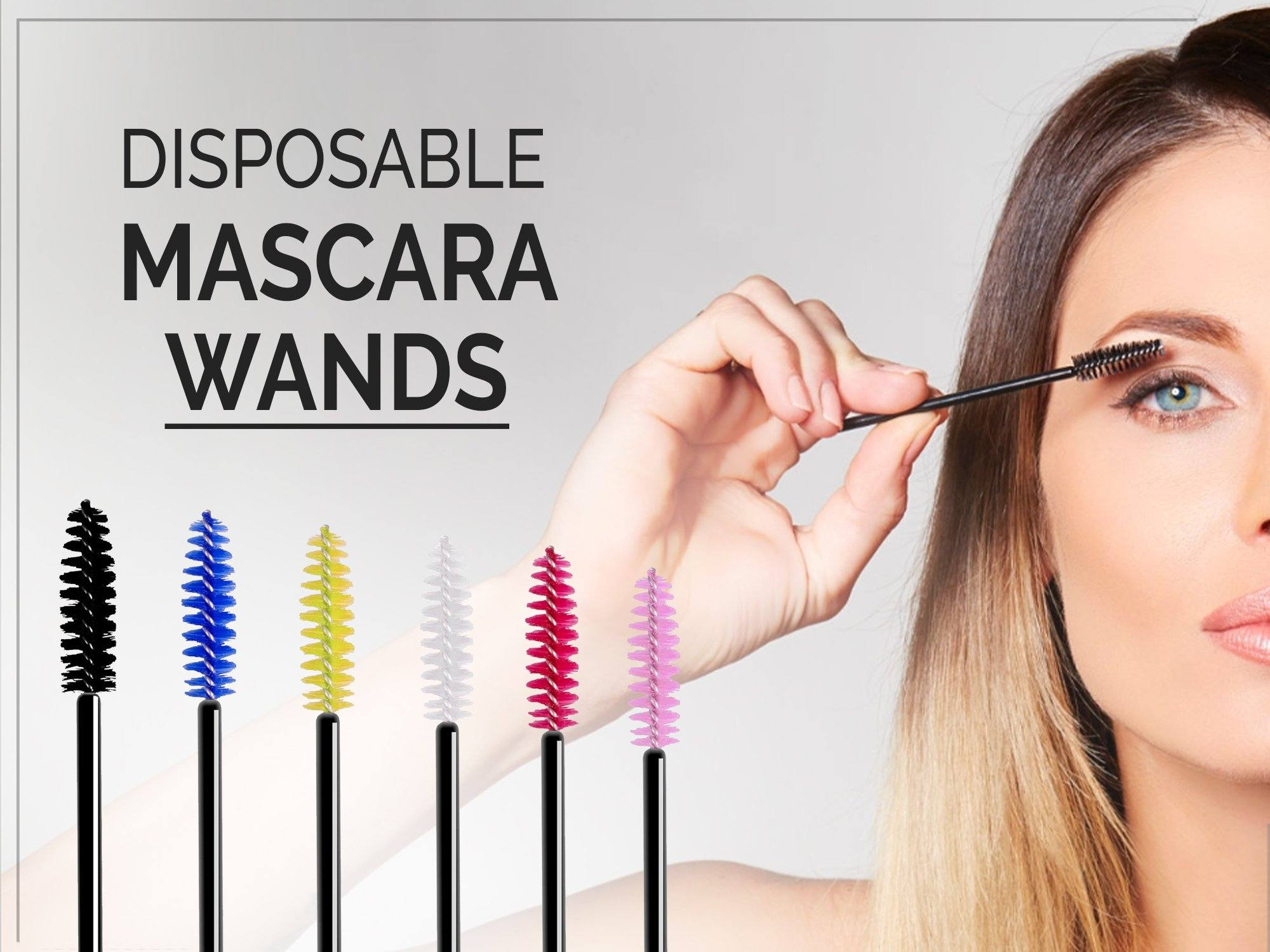 Disposable Eyelash Brush Mascara Wands Applicator ( Makeup Tool )