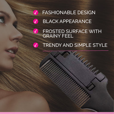 Professional Hair Razor Comb Cutting Scissors ( Thinning Trimmer Inside Blades )