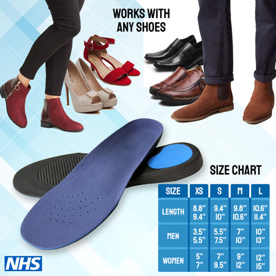 Feet Insoles Arch Supports Orthotic ( Relieve Flat Feet, Foot Pain )