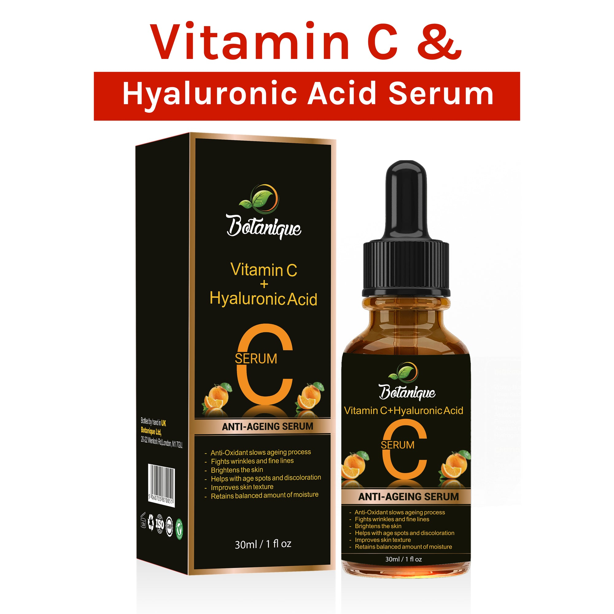 Vitamin C and Hyaluronic Acid Serum