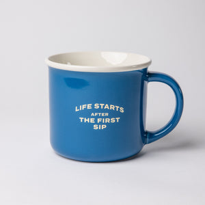 """Life Starts After the First Sip"" Kindle Mug"