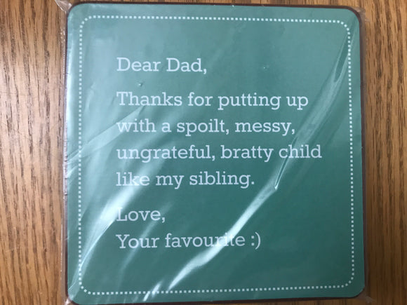 Dear Dad Coaster (Set of 4)