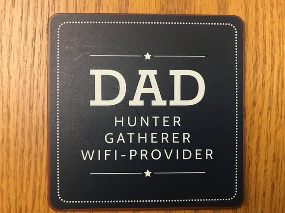 Dad WIFI-Provider Coaster (Set of 4)