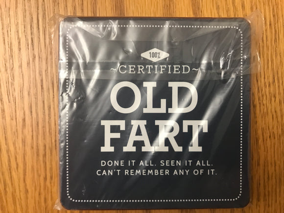 100% Certified Old Fart Coaster (Set of 4)