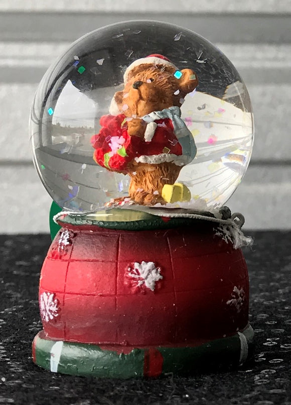 Bear Snow Globe with LED Lights
