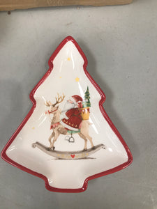 Santa Tree Shaped Plate