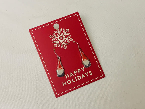Happy Holidays Gnome Earrings