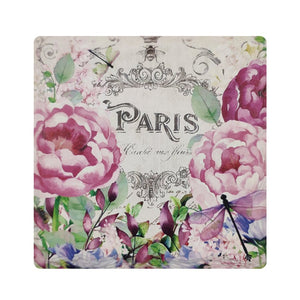 Paris Flowers, Beverage Coaster (4)