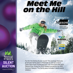 Meet Me on the Hill - All year 2021 Family Pass for Nitehawk + Adult Snowboard + Trex Mountain Bike