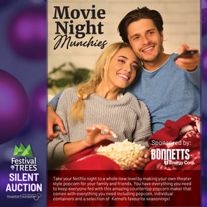 Movie Night Munchies - Counter Popcorn Maker, Seasonings & More