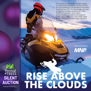 Rise Above The Clouds - 2 days Sledding in Sicamous, BC - 3 nights Accommodations with Chef prepped-meals + $500 Liquor Credit
