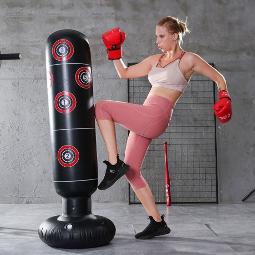 NEW 1.5m Adult Children Inflatable Boxing Punching Bag Column Tumbler Sandbag