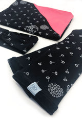 set dandelion black scarf ladies hairband arm warmers