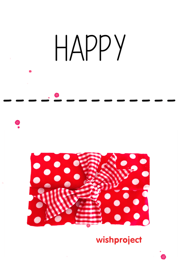 happy lettering red dotted gift voucher by wishproject