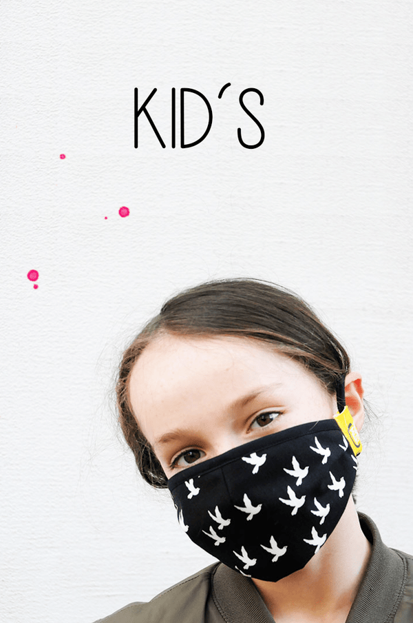 Happy Mask  KIDS , Black Bird