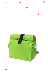Green lunchbag snack bag with Velcro