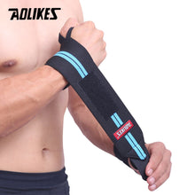 Load image into Gallery viewer, AOLIKES 1PCS Wrist Support Gym Weightlifting Training Weight Lifting Gloves Bar Grip Barbell Straps Wraps Hand Protection