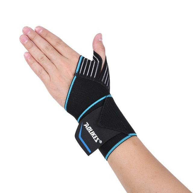 2017 NEW AOLIKES 1pc Sports Wrist Band Wrist Support Strap Wraps Hand Sprain Wraps Bandage Fitness Training Safety Hand Bands