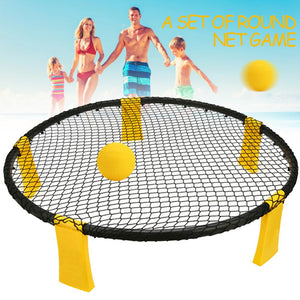 Mini Beach Volleyball Spike Ball Game Set Outdoor Team Sports Spikeball Lawn Fitness Equipment Portable Ball Pump Gauge