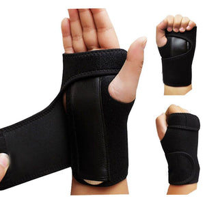 1pc Useful Splint Sprains Arthritis Band Belt Carpal Tunnel Hand Wrist Support Brace Solid Black