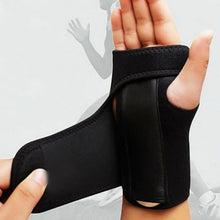 Load image into Gallery viewer, 1pc Useful Splint Sprains Arthritis Band Belt Carpal Tunnel Hand Wrist Support Brace Solid Black