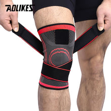 Load image into Gallery viewer, AOLIKES 1PCS 2020 Knee Support Professional Protective Sports Knee Pad Breathable Bandage Knee Brace Basketball Tennis Cycling