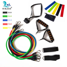 Load image into Gallery viewer, 17Pcs/Set Latex Resistance Bands Set Yoga Exercise Fitness Band Rubber Loop Tube Bands Gym Door Anchor Ankle Straps With Bag Kit