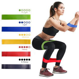 Rubber Resistance elastic Bands For Fitness Indooor Yoga Gym Equipment Body Strength Training Set Workout Bands