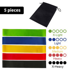 Load image into Gallery viewer, Rubber Resistance elastic Bands For Fitness Indooor Yoga Gym Equipment Body Strength Training Set Workout Bands