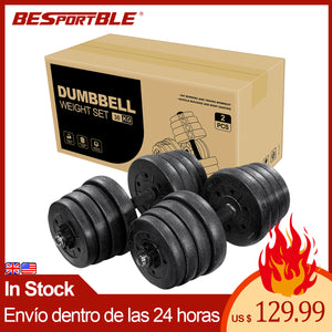 A Pair of 30kg Dumbbell Weight Set Adjustable Solid Fitness Dumbbell Set Safety Non-slip Dumbbells Gym Exercise Training Tools