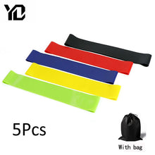 Load image into Gallery viewer, 5Pcs/lot Fitness Yoga Resistance Rubber Bands Fitness Gym Workout Training Equipment 0.35-1.1mm Pilates Elastic Bands For Sprot
