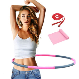 Detachable 7/8 Parts Double Row Magnetic Fitness Hoop Easy To Install Fitness Massage Exercise Workout Sport