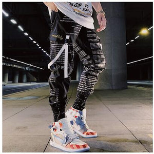 Hip hop Pants Men Loose Joggers Pants with Print Streetwear Harem Pants length Trousers Sport Casual Fashion Harajuku Men Pants