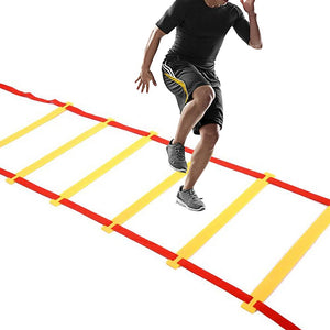 Nylon Agility Ladder Agility Training Ladder Stairs Speed Coordination Flat Rung With Bag For Soccer Football Speed Fitness