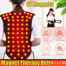 Load image into Gallery viewer, Tourmaline Self-heating Magnetic Therapy Belt Waist Support Shoulders Vest Waistcoat Warm Back Pain Treatment Correction