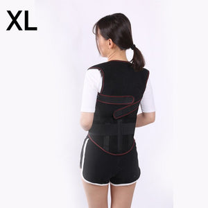Tourmaline Self-heating Magnetic Therapy Belt Waist Support Shoulders Vest Waistcoat Warm Back Pain Treatment Correction