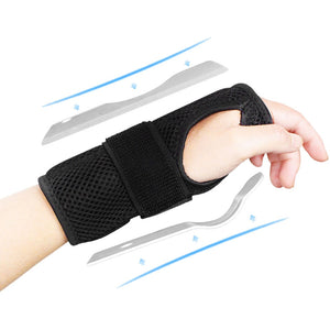 Breathable Wrist Brace Sprain Fracture Fixation Case Cover Support Steel Plate Inside