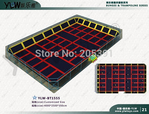 fitness sport trampoline,customized amusement indoor trampoline park,amusement playground equipment