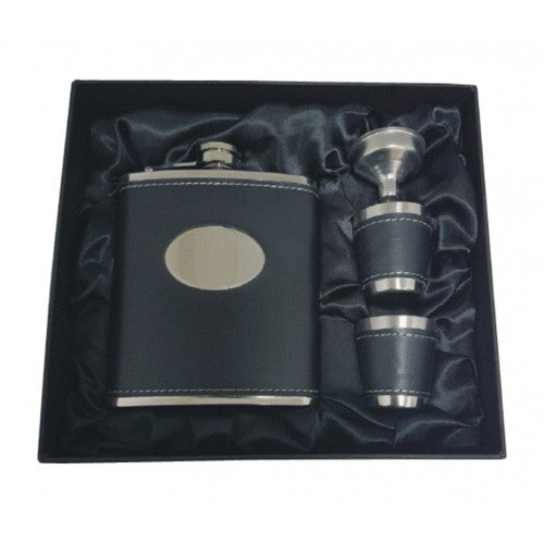 Hip Flask - 7oz - Includes 2 Cups and Funnel