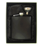 Hip Flask - Matt Black - 6oz - Logo