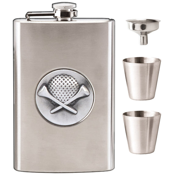 Vision Hip Flask Golf 8oz